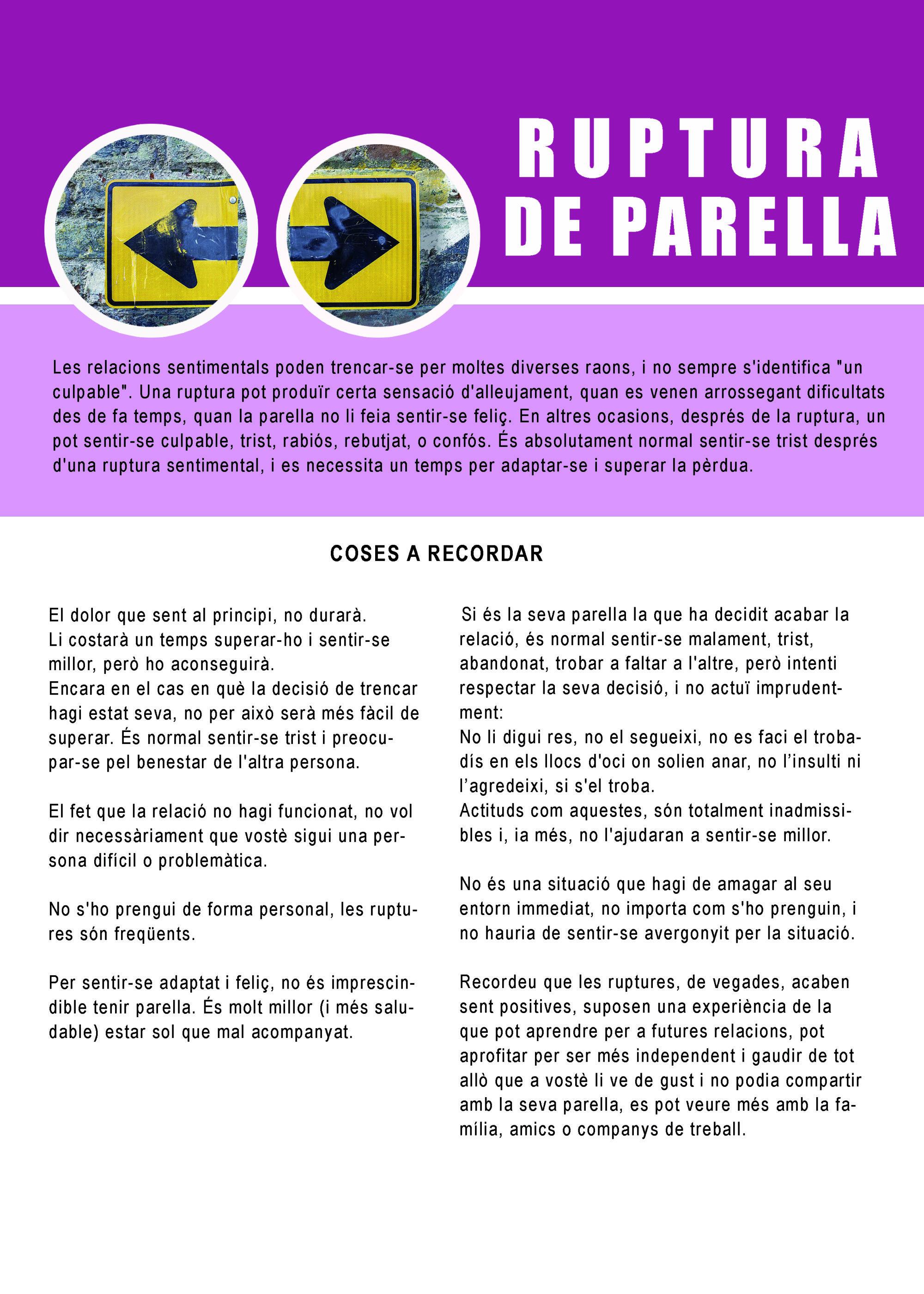 RUPTURA DE PARELLA