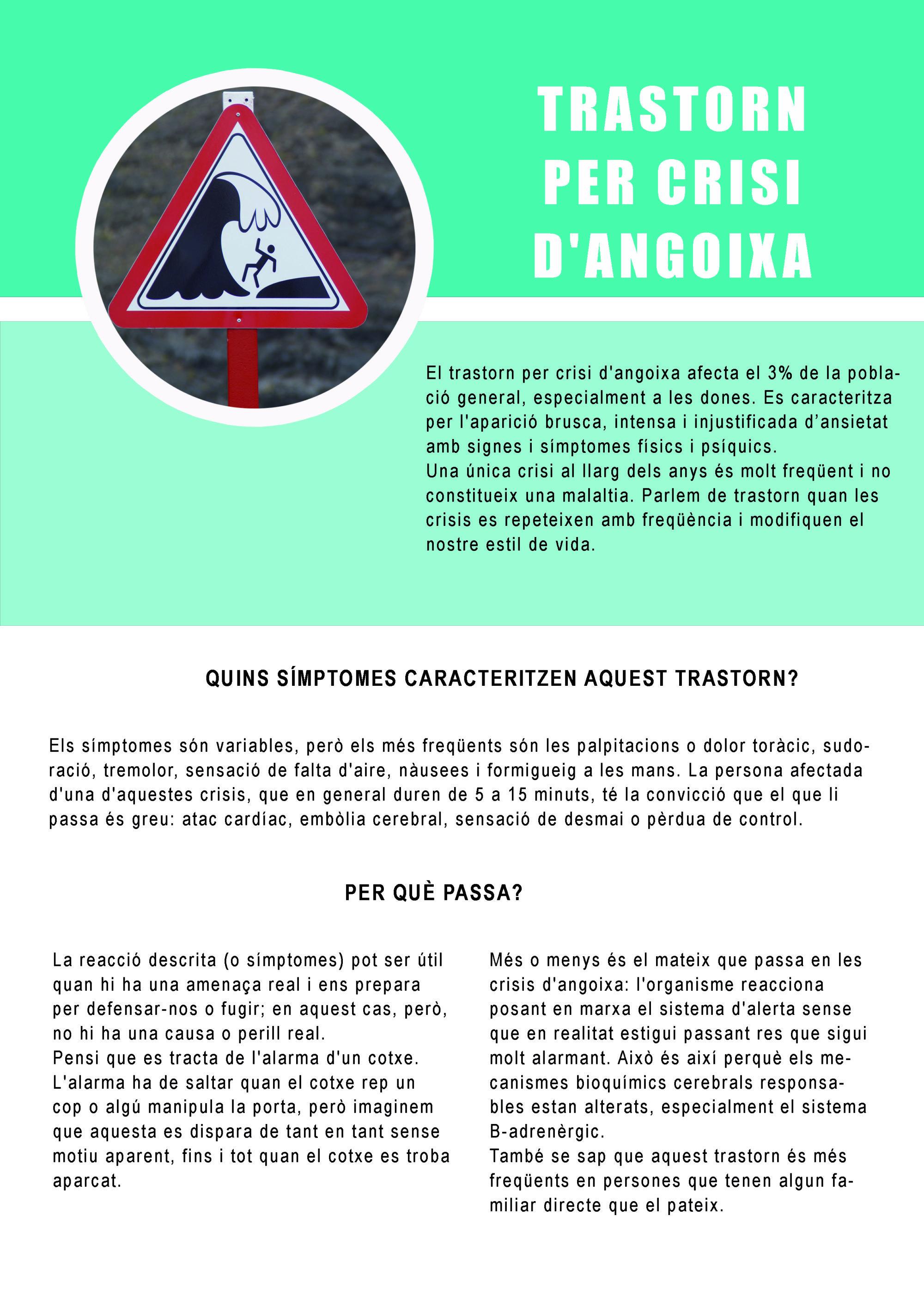TRASTORN PER CRISI D'ANGOIXA PRIMERA PART